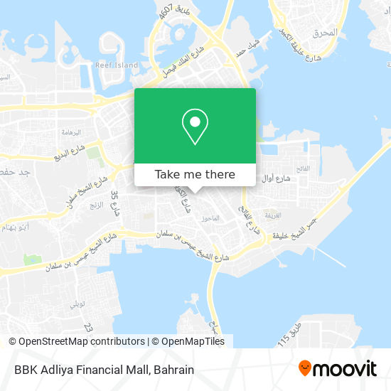BBK Adliya Financial Mall map