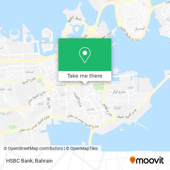 HSBC Bank map
