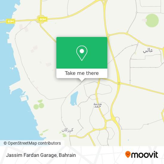 Jassim Fardan Garage map