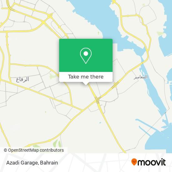 Azadi Garage map