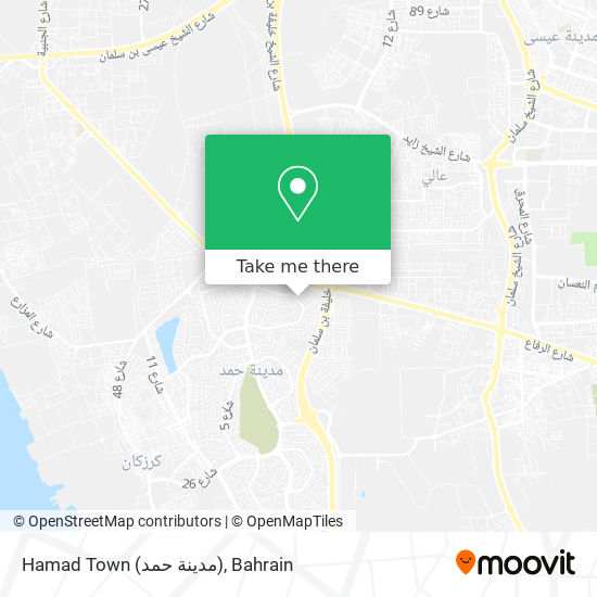 Hamad Town (مدينة حمد) map
