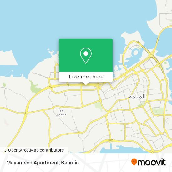 Mayameen Apartment map