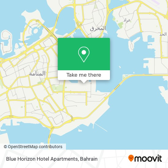 Blue Horizon Hotel Apartments map