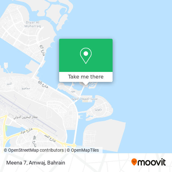 Meena 7, Amwaj map