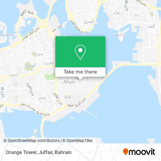 Orange Tower, Juffair map