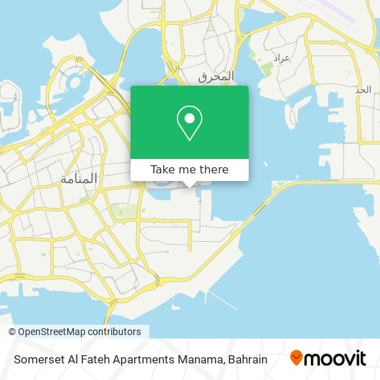Somerset Al Fateh Apartments Manama map