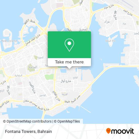 Fontana Towers map