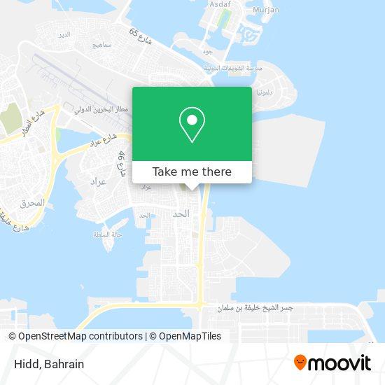 Hidd map