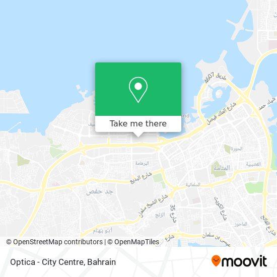 Optica - City Centre map