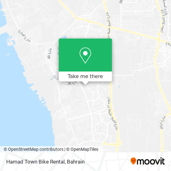 Hamad Town Bike Rental map
