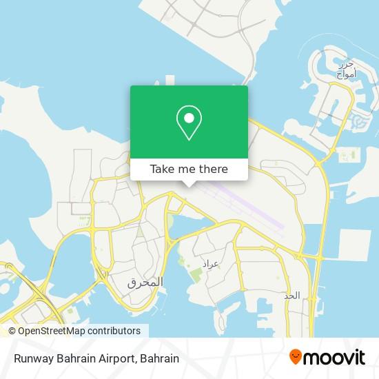 Runway Bahrain Airport map