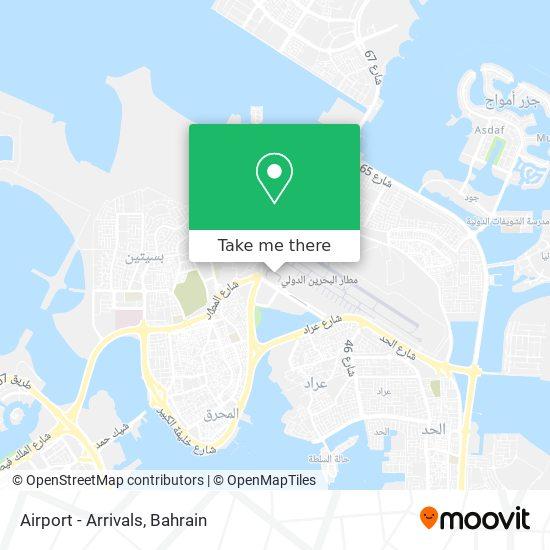 Airport - Arrivals map