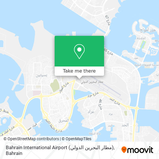Bahrain International Airport (مطار البحرين الدولي) map