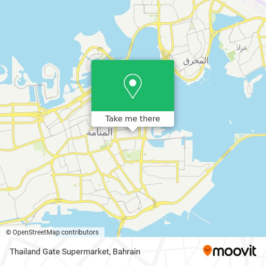 Thailand Gate Supermarket map