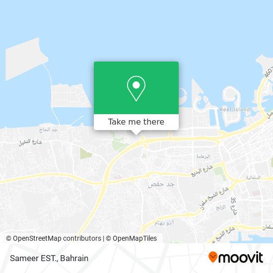 Sameer EST. map