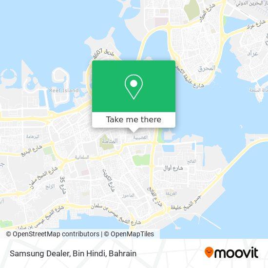 Samsung Dealer, Bin Hindi map
