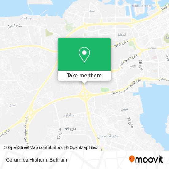 Ceramica Hisham map