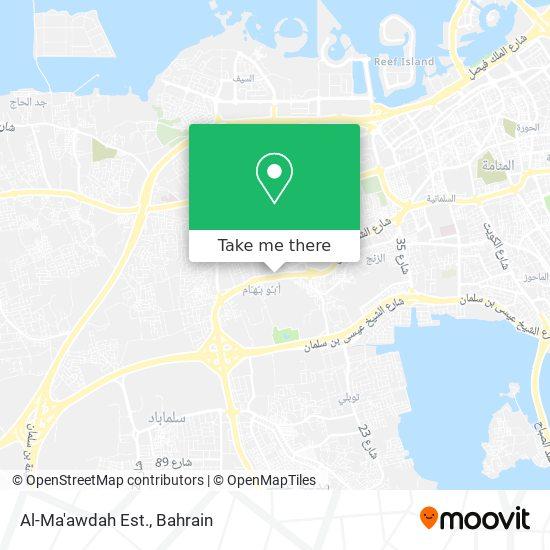 Al-Ma'awdah Est. map