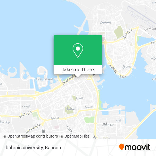 bahrain university map
