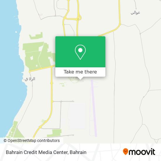 Bahrain Credit Media Center map