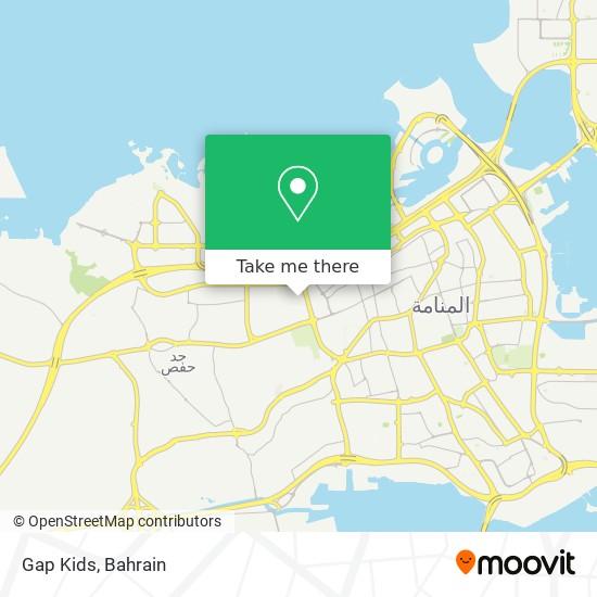 Gap Kids map