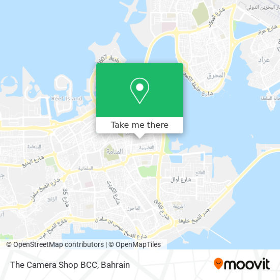 The Camera Shop BCC map