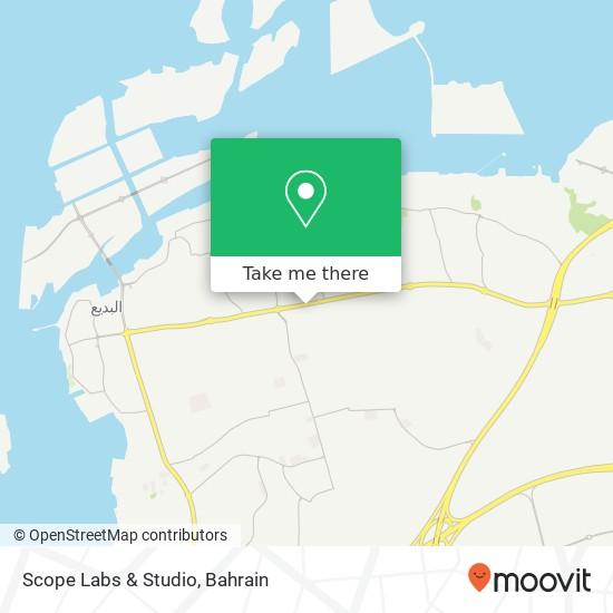 Scope Labs & Studio map
