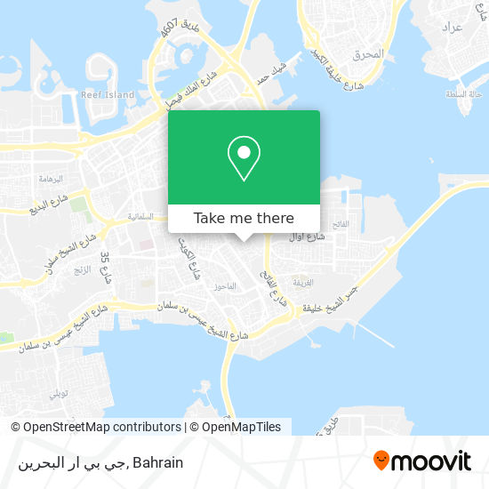 جي بي ار البحرين map