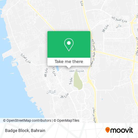 Badge Block map