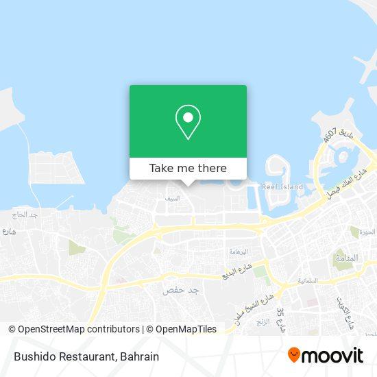 Bushido Restaurant map