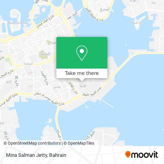 Mina Salman Jetty map