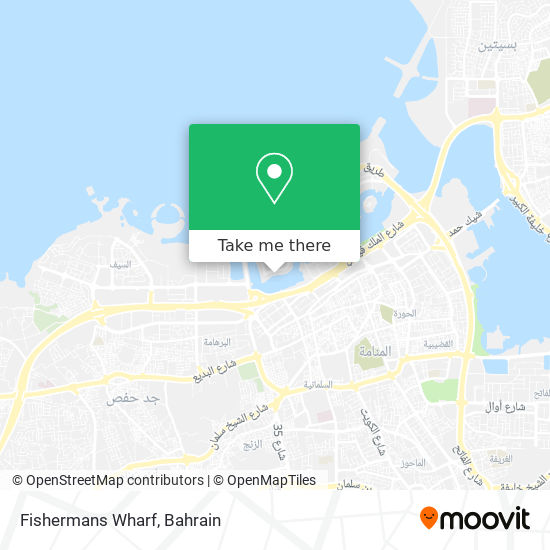 Fishermans Wharf map