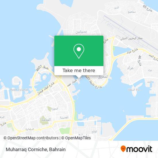 Muharraq Corniche map