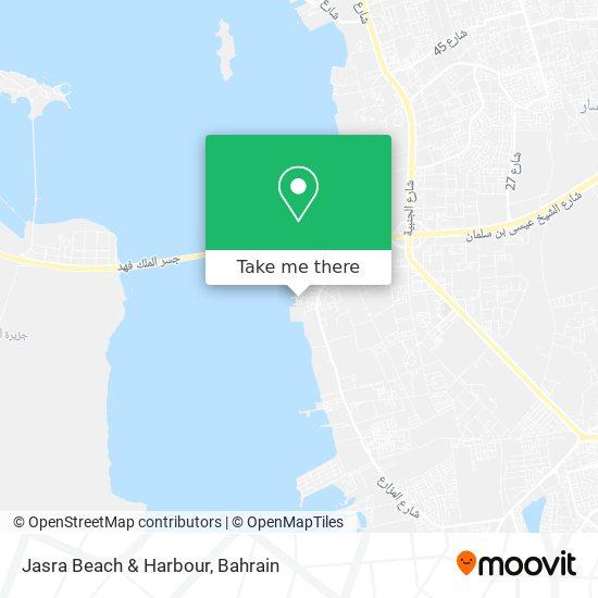 Jasra Beach & Harbour map