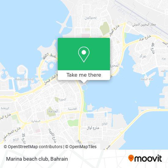 Marina beach club map
