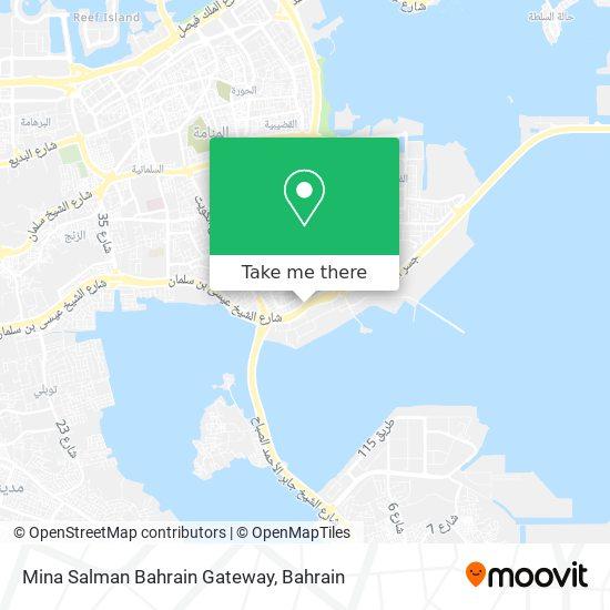 Mina Salman Bahrain Gateway map