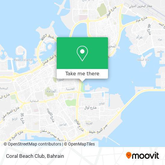 Coral Beach Club map