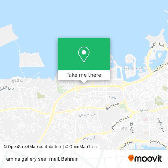 amina gallery seef mall map