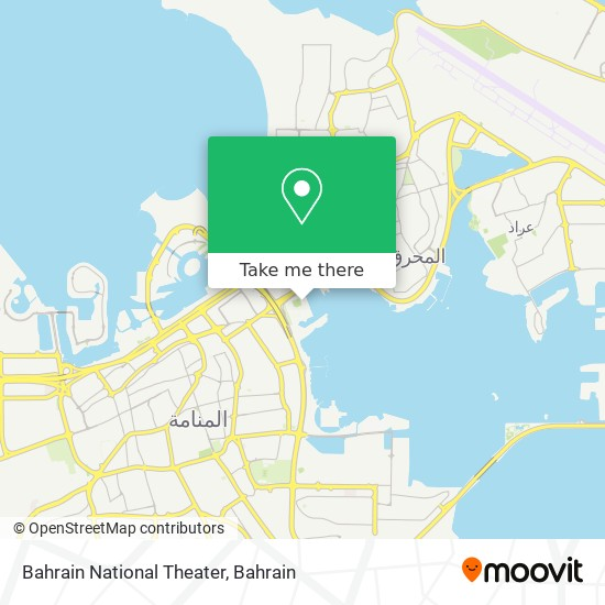 Bahrain National Theater map