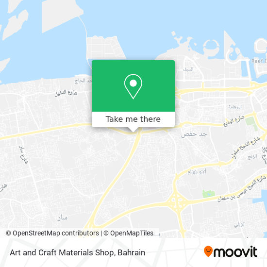 Art and Craft Materials Shop map