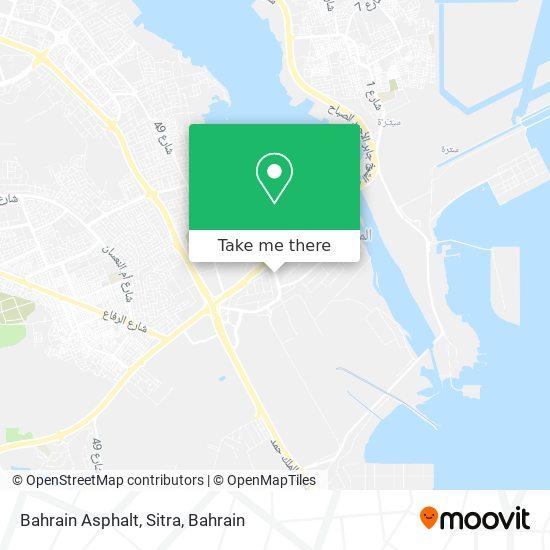 Bahrain Asphalt, Sitra map