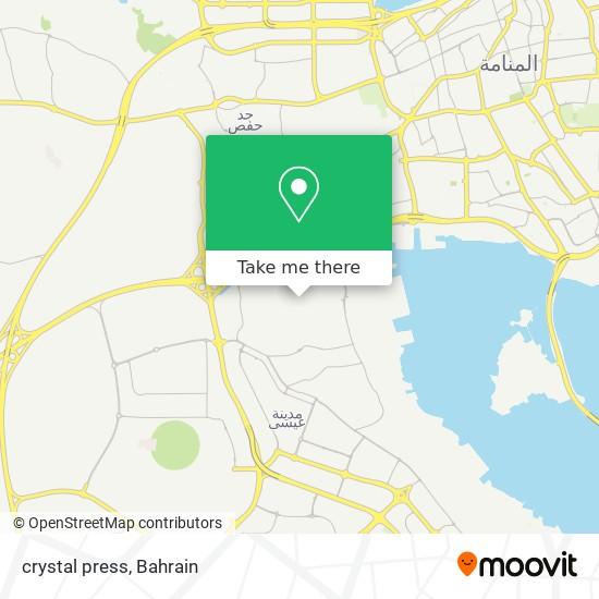 crystal press map
