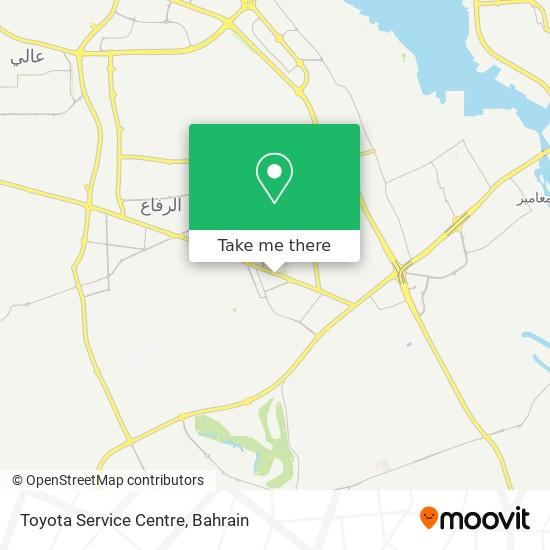 Toyota Service Centre map