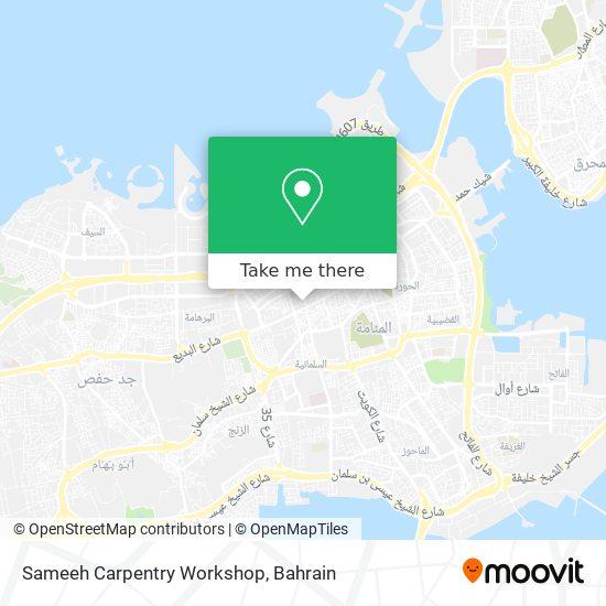 Sameeh Carpentry Workshop map