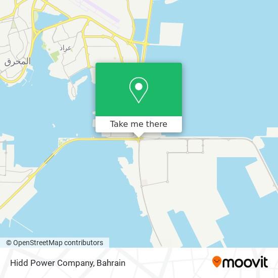 Hidd Power Company map