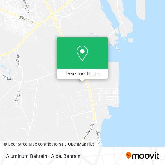 Aluminum Bahrain -  Alba map