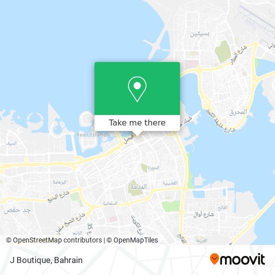 J Boutique map