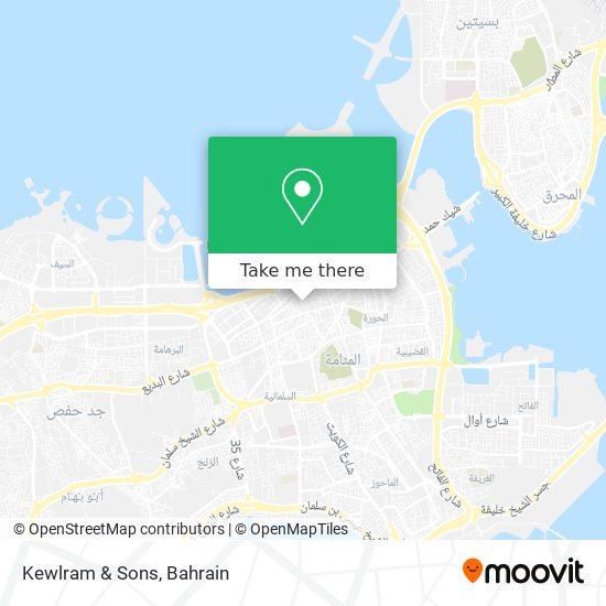 Kewlram & Sons map