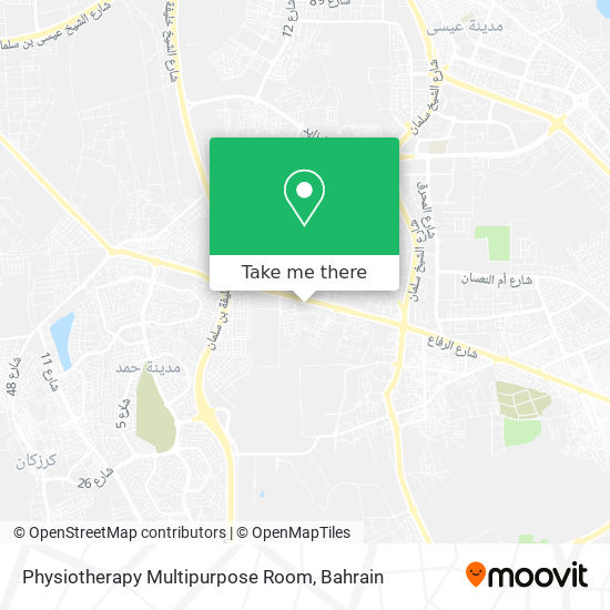 Physiotherapy Multipurpose Room map
