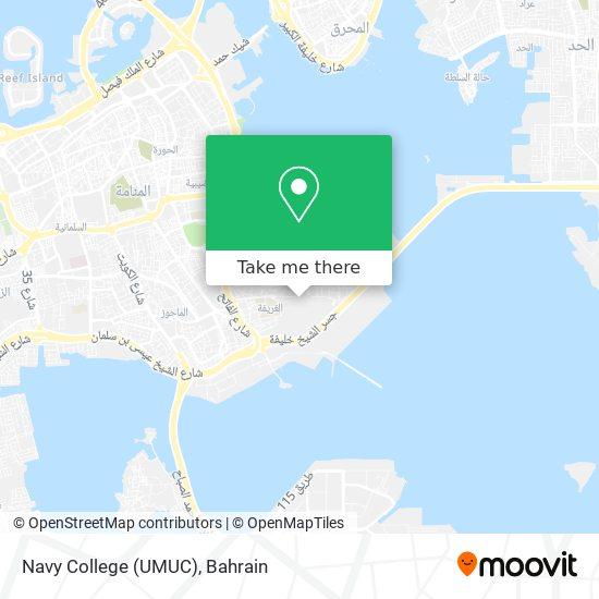 Navy College (UMUC) map